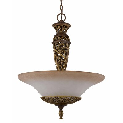 Triarch Lighting Filigree 3 Light Inverted Pendant