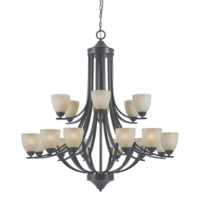 Triarch Lighting Value Series 240 18 Light Entryway Chandelier