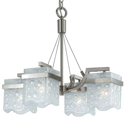 Triarch Lighting Arctic Ice 4 Light Chandelier