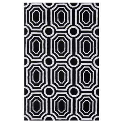 <strong>angelo:HOME</strong> Hudson Park Jet Black/White Rug