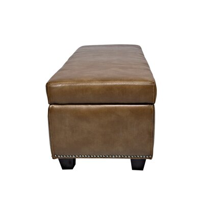angelo:HOME Kent Leather Storage Bench Ottoman