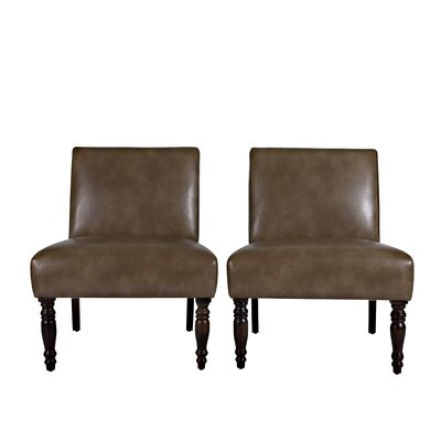 angelo:HOME Bradstreet Renu Leather Chair (Set of 2)