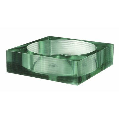 Avanity Square Tempered Segmented Glass Vessel Sink