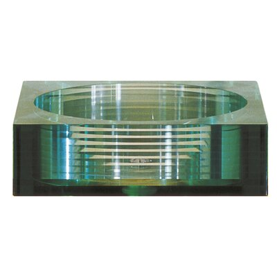 Square Tempered Segmented Glass Vessel Bathroom Sink - GVE450SQ