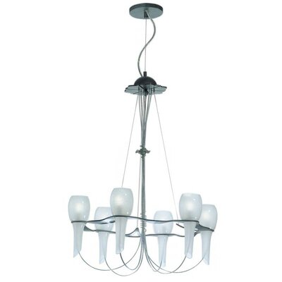 Zaneen Lighting Pavia Six Light Chandelier in Nickel