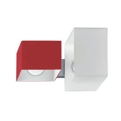 Zaneen Lighting Domino Two Light Flush Mount  /  Wall Sconce in Metallic Gray