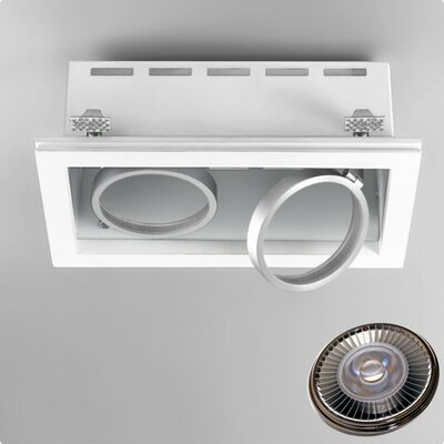 Zaneen Lighting Invisibli 2 Light Recessed Rectangle LED SpotLight