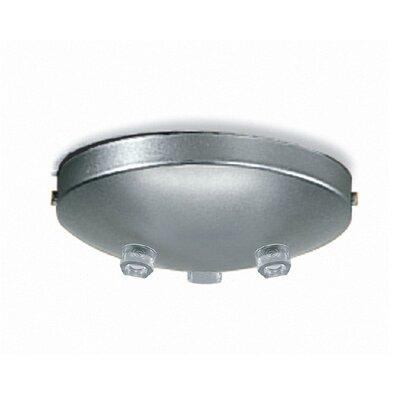 Zaneen Lighting Triple Pendant Accessory Canopy in Metallic Gray