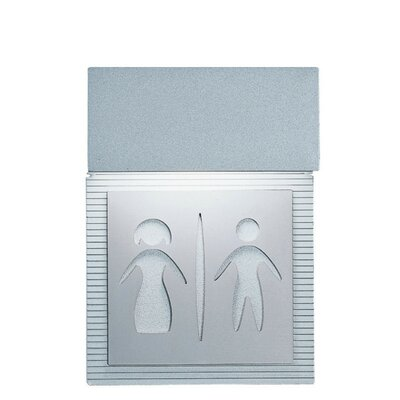 Mini Signal Restroom Wall Light in Metallic Gray