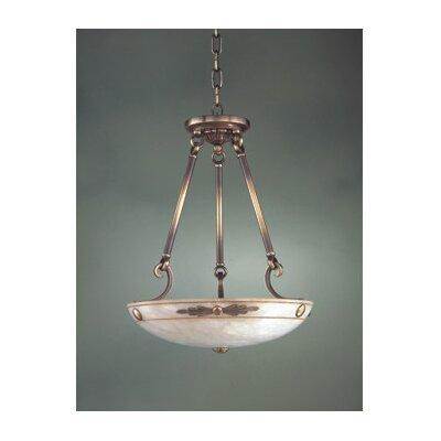Zaneen Lighting Castella Traditional Pendant in Antique Brass