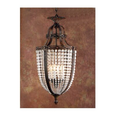 Zaneen Lighting Longas Nine Light Traditional Pendant in Oxidate Bronze