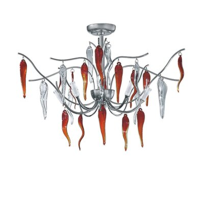 Zaneen Lighting Daniela Semi Flush in Aluminum