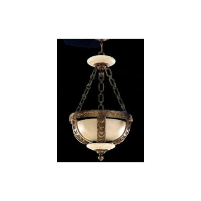 Zaneen Lighting Melilla Pendant in Rustic Bronze