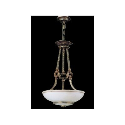 Zaneen Lighting Monticello Three Light Traditional Pendant in Aged Bronze