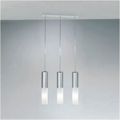 Jazz Three Light Pendant Holder in White