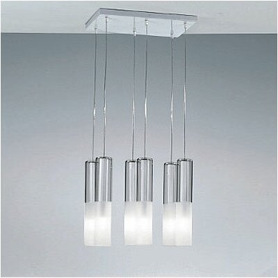 Jazz Six Light Pendant Holder in White