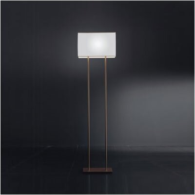 Zaneen Lighting Blissy Floor Lamp in Metallic Brown Finish with White Shade
