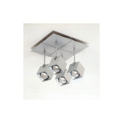 Zaneen Lighting Dau Spot Four Light Square Flush Mount