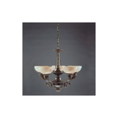 Zaneen Lighting Cordoba Five Light Traditional Chandelier in Antique Brass