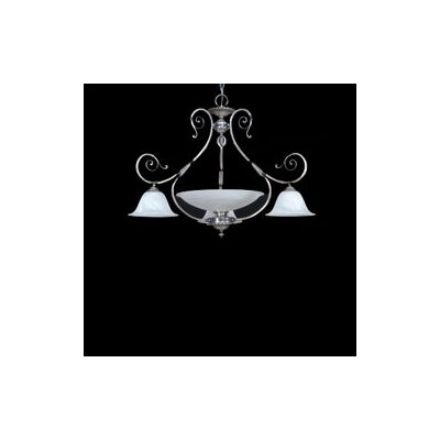 Zaneen Lighting Alava II Four Light Traditional Chandelier in Silver Oxide