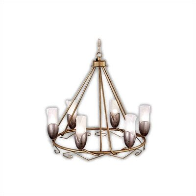 Zaneen Lighting Torino Six Light Pendant in Weathered Champagne