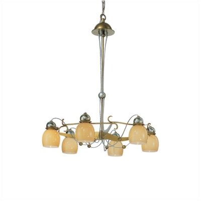 Zaneen Lighting Rimini Six Downward Light Chandelier in Vintage Gold
