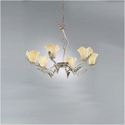 Zaneen Lighting Rovigo Six Light Chandelier in Weathered Silver