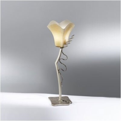 Zaneen Lighting Rovigo Single Light Table Lamp in Weathered Silver