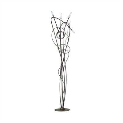 Zaneen Lighting Miss Irony 5 Light Floor Lamp