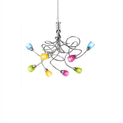 Zaneen Lighting Riflessi Eight Light Chandelier