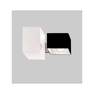 Zaneen Lighting Domino Two Light Flush Mount  /  Wall Sconce in Metallic Gray