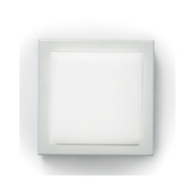 Zaneen Lighting Flat Q Flush Mount  /  Wall Sconce in White