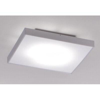 Zaneen Lighting Linea Flush Mount in Black Satin Aluminum