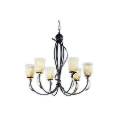 Zaneen Lighting Livorno Chandelier in Tobacco Gold