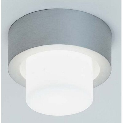 Zaneen Lighting Mini Rondo Flush Mount in Satin Aluminum