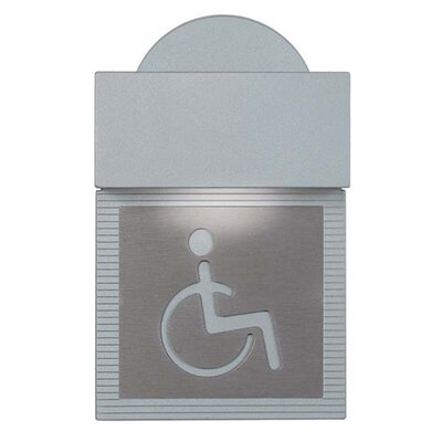 Zaneen Lighting Mini Signal Handicap Wall Light in Metallic Gray