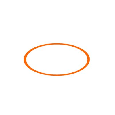 "Zaneen Lighting Tamburo 14.56"" Orange Ring Insert"