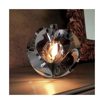 Zaneen Lighting Floral Table Lamp in Chrome