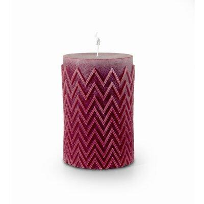 Chevron Pillar Candle
