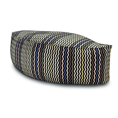 Missoni Home Golden Age B and W  Oissel Leaf-shaped Ottoman