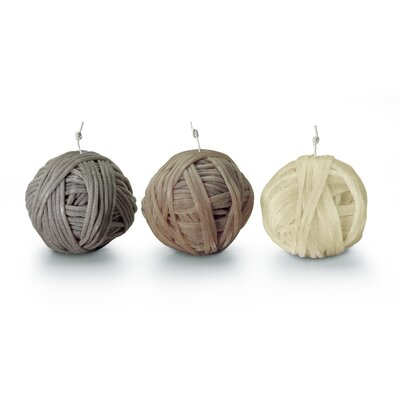 3 Piece Gomitolo Novelty Candle