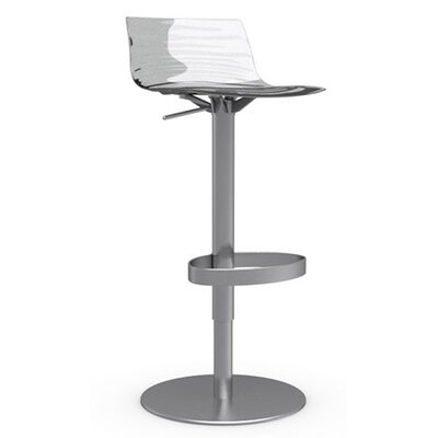 "Calligaris L'Eau 25.38"" Adjustable Swivel Bar Stool"
