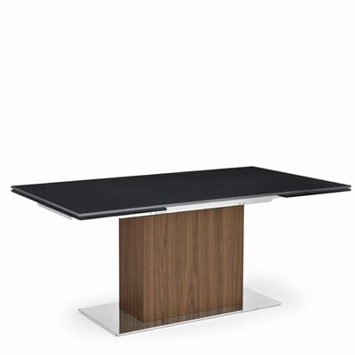 Calligaris Park Glass Adjustable Extension Dining Table