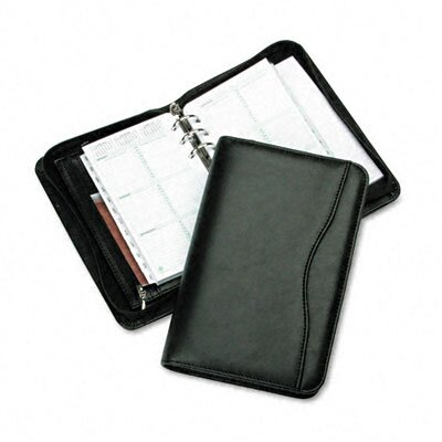 "Day-Timer® Avalon Leatherlike Vinyl Zippered Organizer Starter Set, 3.75"" Wide"
