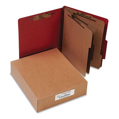 Acco Brands, Inc. Pressboard 25-Pt. Classification Folder, 8-Section, 10/Box