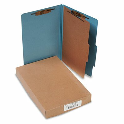 Acco Brands, Inc. Pressboard 25-Pt. Classification Folders, Legal, Four-Section, 10/Box