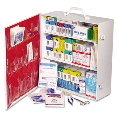 Acme United Corporation First Aid Kit for 50 People, 740 Pieces, OSHA/ANSI, Metal Case