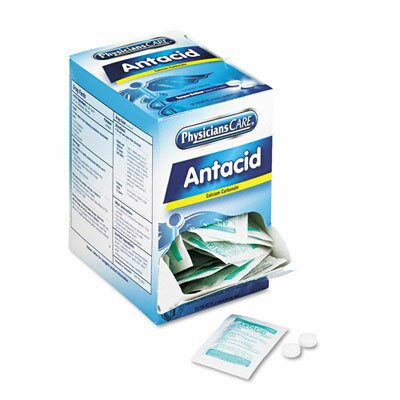 Acme United Corporation Antacid Tablets, Two Tablets per Packet, 50 Packets per Box