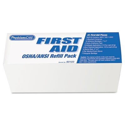 Acme United Corporation Physicianscare Ansi / Osha First Aid Refill Kit, Contains 48 Pieces