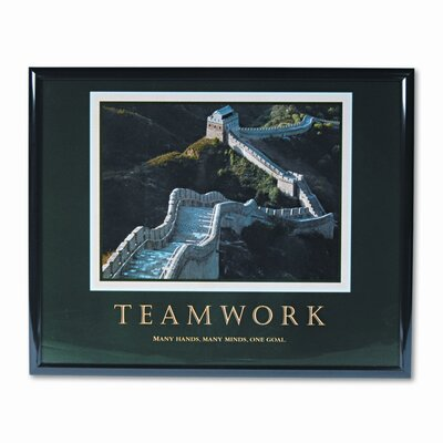 Advantus Corp. 'Teamwork/Great Wall Of China' Framed Photographic Print
